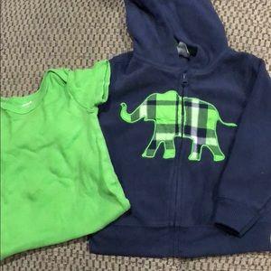 Jacket and onesie set